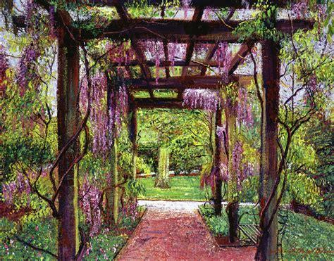 wisteria trellis ideas wisteria trellis painting by david lloyd glover