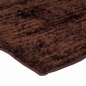 grand tapis design shaggy marron 190x200cm With grand tapis shaggy