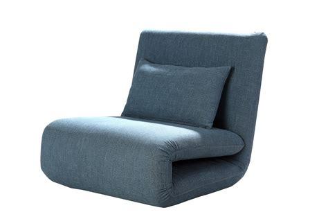 fauteuil design convertible en tissu bleu norton