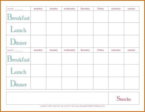 week meal planner template   meal planner