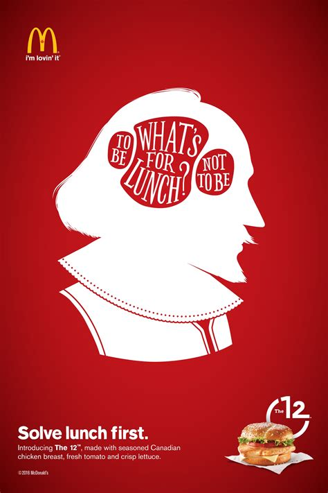 mcdonalds print advert  cossette shakespeare ads