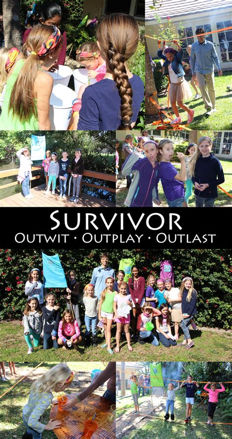 Survivor Kid's Party {outwit * outplay * outlast ...