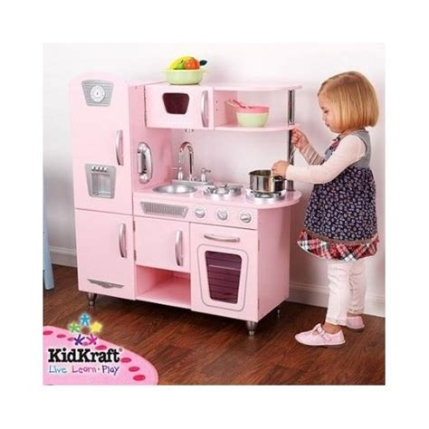 kidkraft retro kitchen kidkraft vintage kitchen set play pink kid toddler