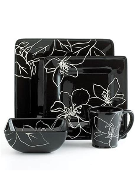 closeout laurie gates dinnerware anna square  piece