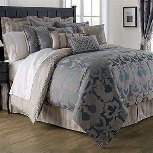 Chateau, Lake, Dark, Blue, Comforter, Bedding, By, Waterford, Linens