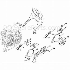 Stihl Ms 280 Chainsaw  Ms280 C  Parts Diagram  Chain Brake