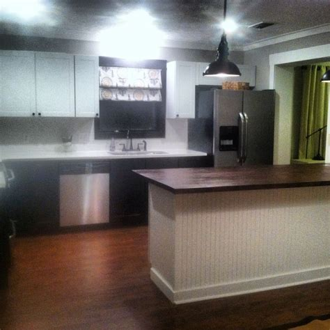 kitchen remodel done in stock cabinets from lowes