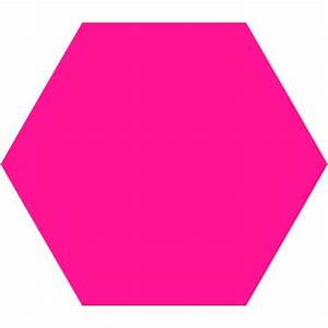Deep Pink Hexagon Icon