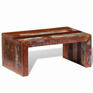 vidaxlcouk antique style reclaimed wood coffee table With antique looking coffee tables