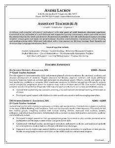 teacher assistant resume job description resume cover With sample resume for assistant teacher in preschools