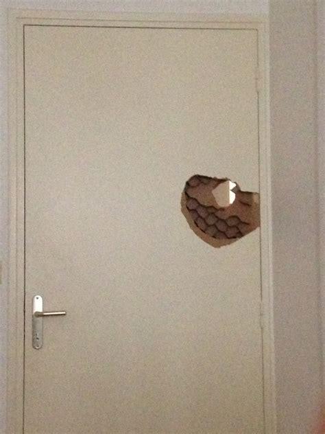 reparer un trou dans une porte trou porte interieur isoplane alv 233 ol 233