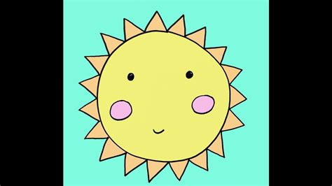 How To Draw A Cartoon Sun Step By Step Easy Drawing