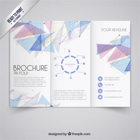 Brochure Templates For Free by Brochure Template In Geometric Style Vector Free