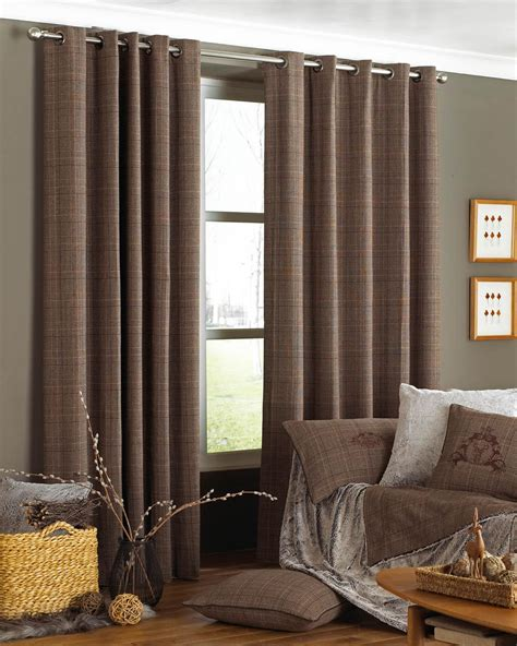 courcheval eyelet curtains brown free uk delivery