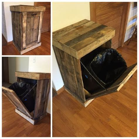kitchen trash can cabinet trash can cabinet rustic trash bin country living by 6327
