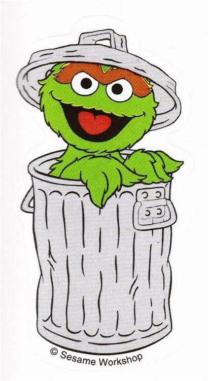 Oscar Grouch Cartoon Clipart Drawing Sesame Birthday