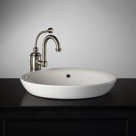 semi recessed bathroom sink milforde semi recessed porcelain sink dad 39 s bathroom