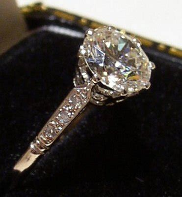pre owned diamond solitaire ring  carats  diamond