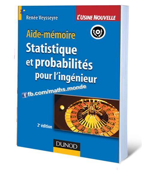 Tlpa Template by Livre Statistique Et Probabilit 233 S Pour L Ing 233 Nieur Pdf