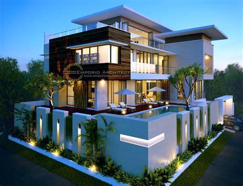 desain rumah mewah lebih   lantai  jakarta jasa arsitek