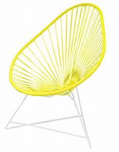 Fauteuil Acapulco Jaune : fauteuil acapulco de boqa avec structure blanche jaune imp rial ~ Teatrodelosmanantiales.com Idées de Décoration