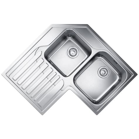franke corner kitchen sinks franke studio stx 621 e stainless steel corner inset sink 3521