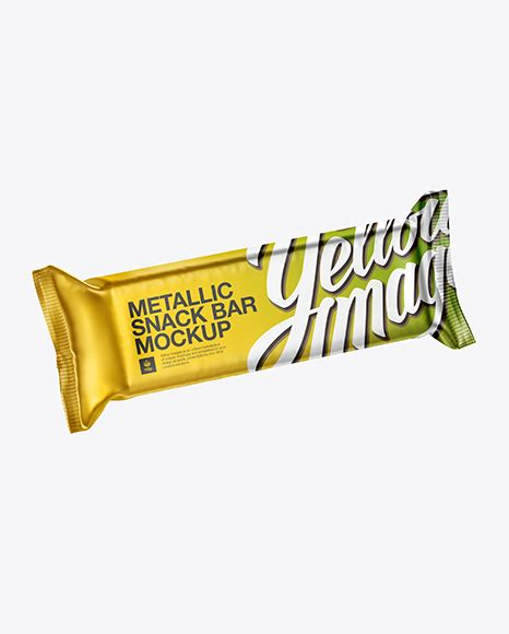 Within our free and customizable magazine mockups, you'll save a lot of time and effort. Matte Metallic Snack Bar Mockup - Halfside Front View ...