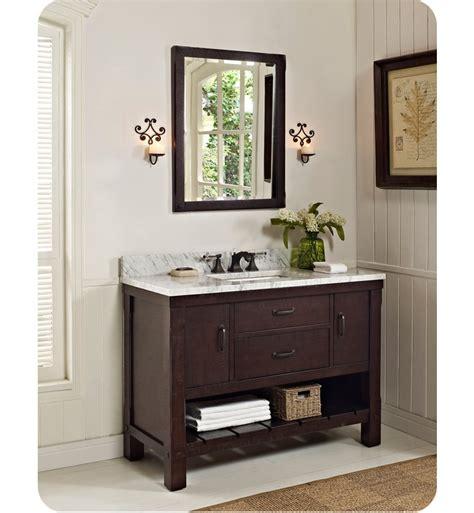 fairmont designs bathroom vanity fairmont designs 1506 vh48 napa 48 quot open shelf modern bathroom vanity