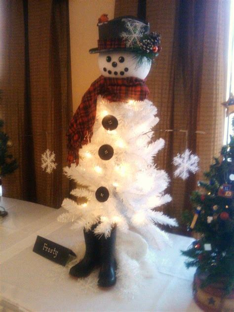 snowman    christmas tree craft projects
