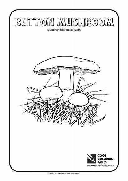 Coloring Mushrooms Mushroom Pages Button Cool Educational