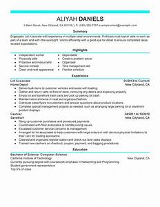 Part Time Lot Associates - My Perfect Resume