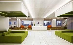 green, white, office, interior, included, cozy, sofas, , reception, counter, desk, , orange, cozy, puffs