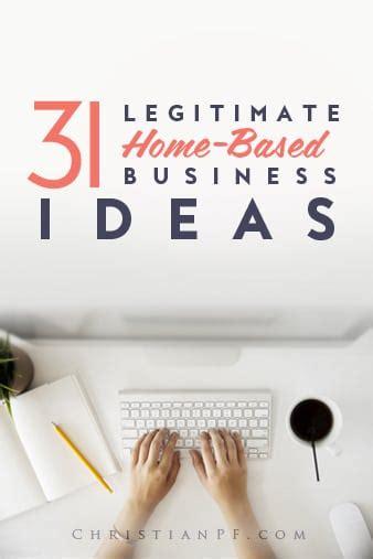 legitimate profitable home based business ideas