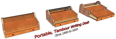 tambour writing desk  woodworking plans