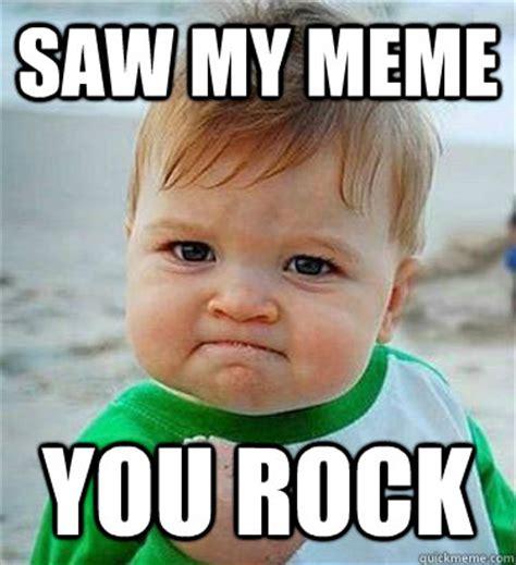 Rock Baby Meme - victory baby meme