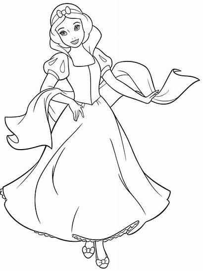 Coloring Snow Princess Pages Disney Upon Once