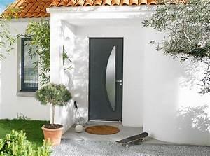Porte Entree Maison : porte d 39 entr e bois contemporaine mi vitr e alliance d 39 un ~ Premium-room.com Idées de Décoration