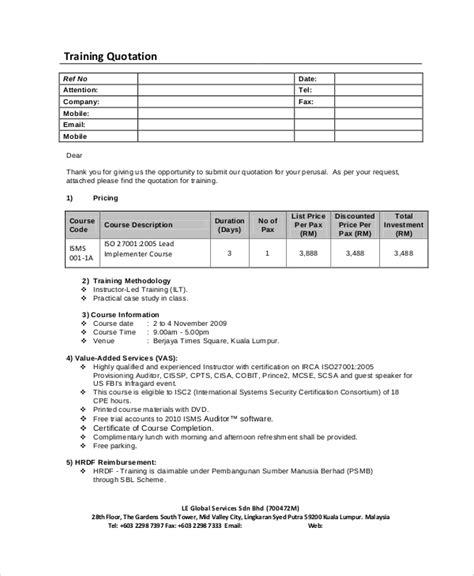 sample price quotation  documents