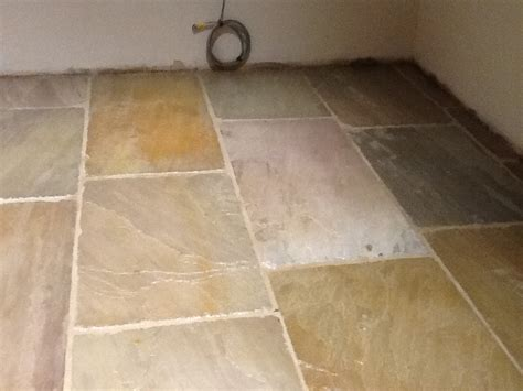 Removing Grout From Porcelain Tile by Grout Removed From Sealed Sandstone Floor Grout