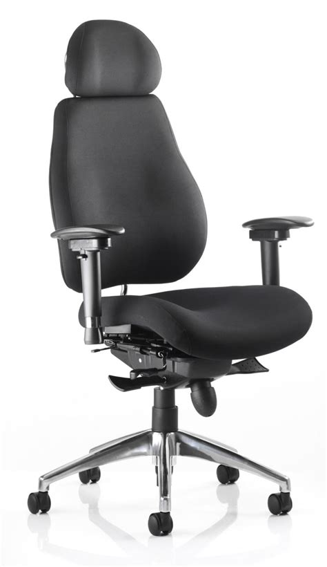 chiro plus fabric ergonomic office chair with headrest
