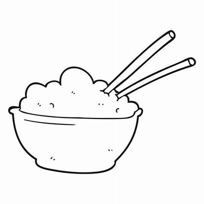 Rice Bowl Cartoon Plate Drawing Illustration Clipart