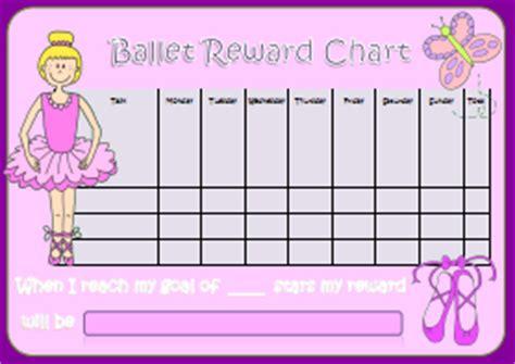 ballet reward chart kids puzzles  games