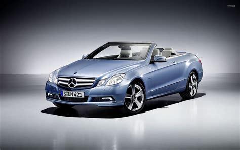 Blue Mercedes-benz E-class Convertible Front Side View