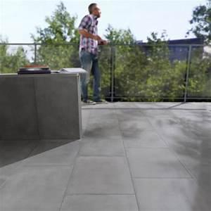 Dalle De Terrasse Castorama : dalle aspect b ton cir 60 x 40 cm dalles beton promo ~ Premium-room.com Idées de Décoration