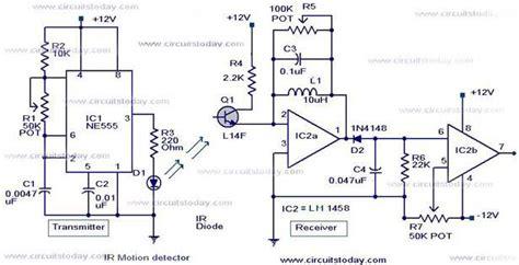 Infrared Motion Detector Circuit Sensor