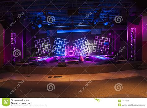 concert stage lit  ready royalty  stock