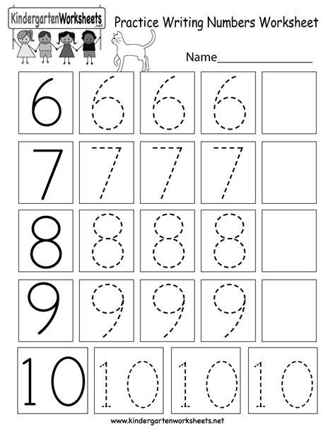printable practice writing numbers worksheet