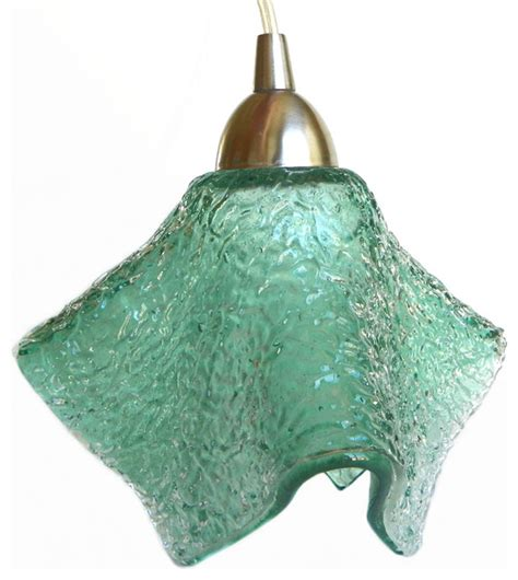 sea foam textured mini pendant light fixture pendant