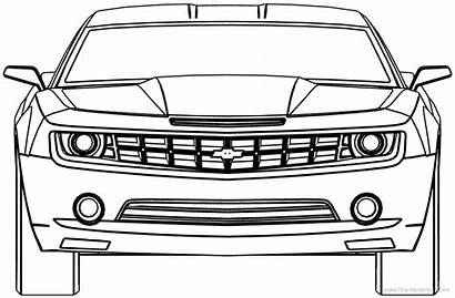 Camaro Chevrolet Blueprints Coloring Pages Cars Outline