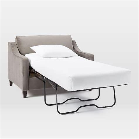 paidge chair and a half sleeper west elm